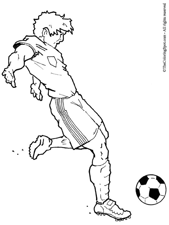 soccer game coloring pages - photo#6